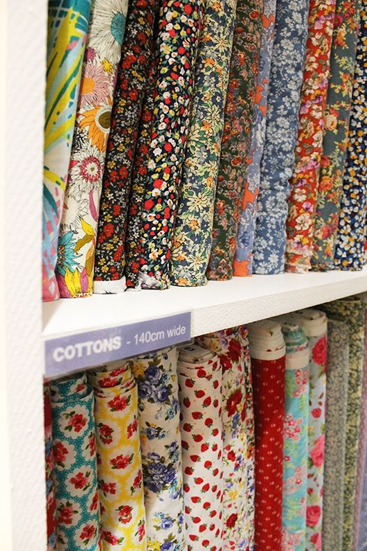 Where to go fabric shopping in London // Sew Over It http://shop.sewoverit.co.uk/