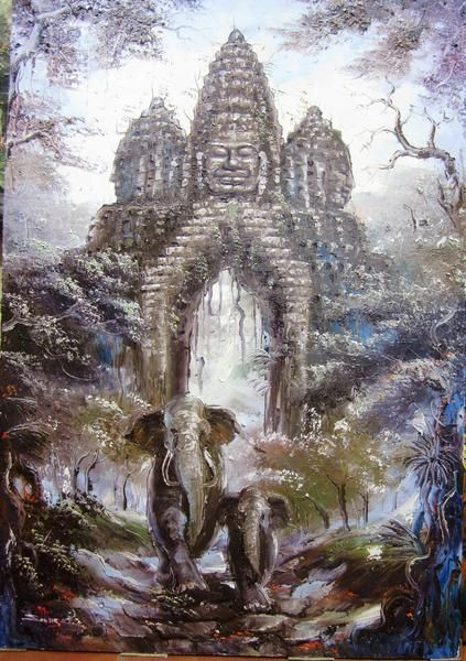 196 best cambodian oil painting images on pinterest