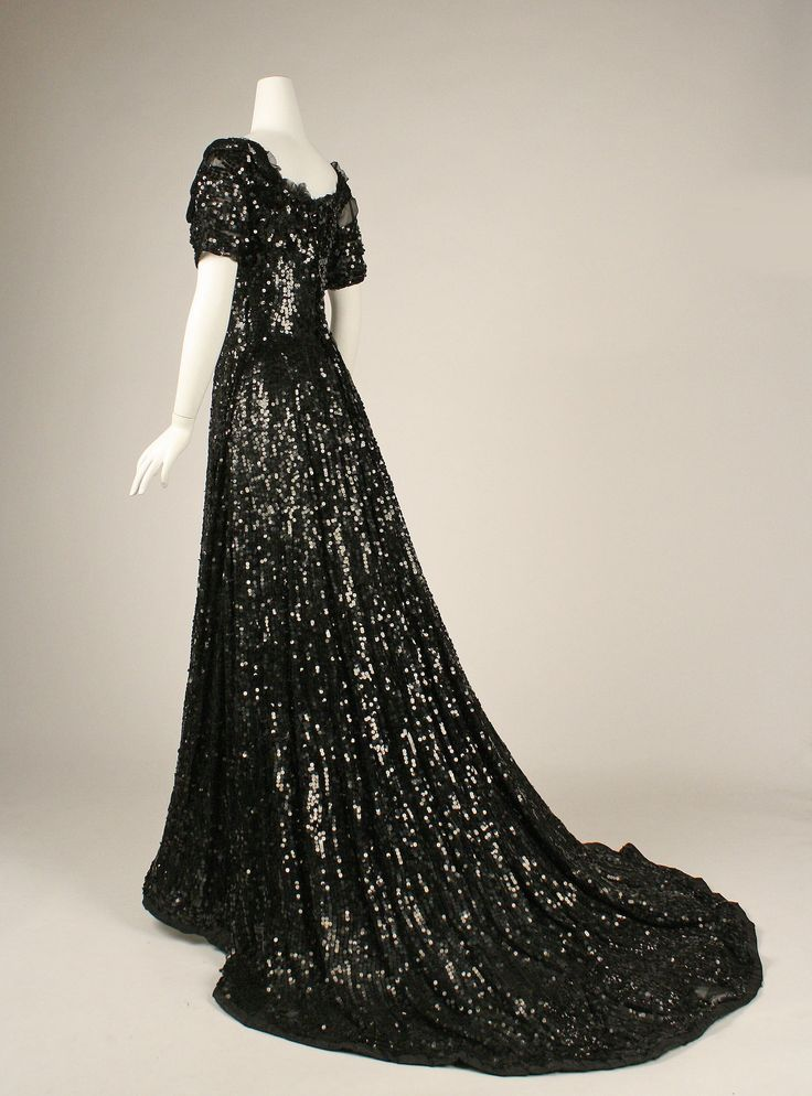 Evening Dress: ca. 1905, American or European, net and sequins.