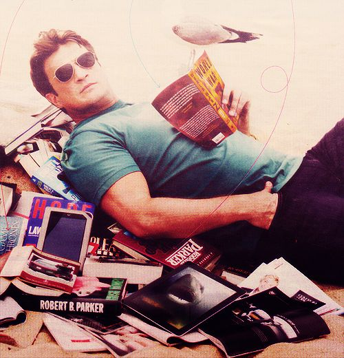 Nathan Fillion. And books.