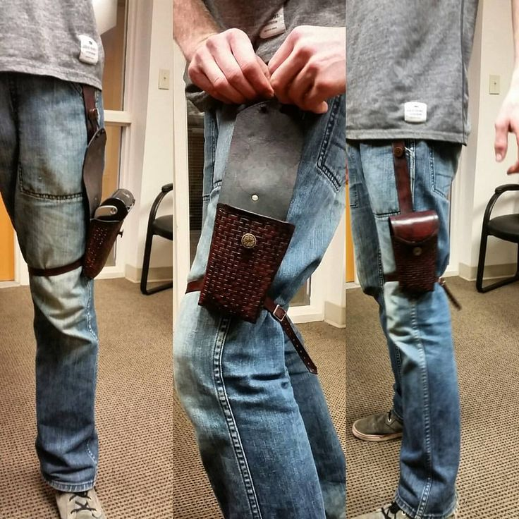 Debit machine drop holster delivered to satisfied customer #leathercraft