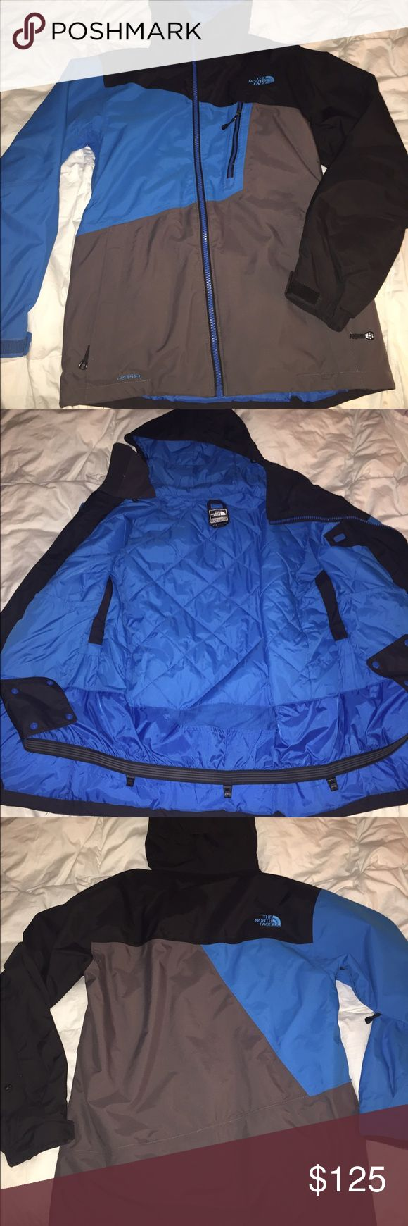 NorthFace Snow Jacket Men's NorthFace snow jacket. Very warm and quilted. Perfect condition. Snow guard attached. Men's small fits me and I'm a women's medium/large. Let me know! North Face Jackets & Coats Ski & Snowboard
