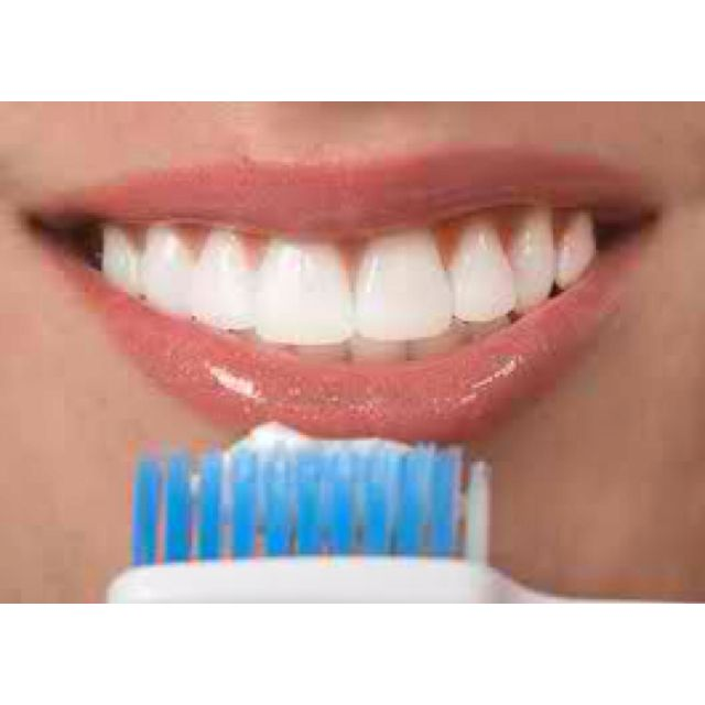 """Take a q-tip dip it in a cap full of hydrogen peroxide and scrub on teeth leave on for 30 seconds and then brush teeth. Do for a week straight in the morning and before bed. See amazing white teeth results! Been doing this for a few days and it's making a HUGE difference! """