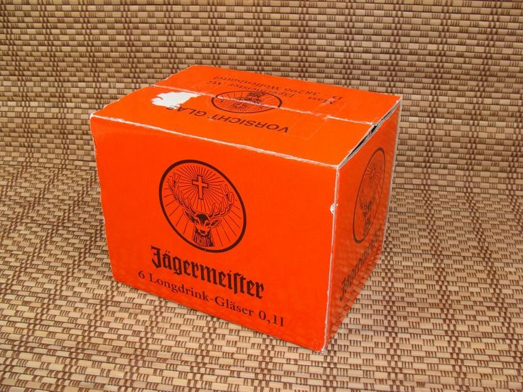 6 NEW unused Jagermeister Jagermeifter Longdrink Glasses 0,1L Tall 4.75""