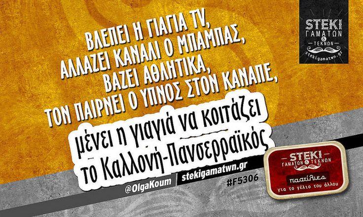 Βλέπει η γιαγιά tv @OlgaKoum - http://stekigamatwn.gr/f5306/