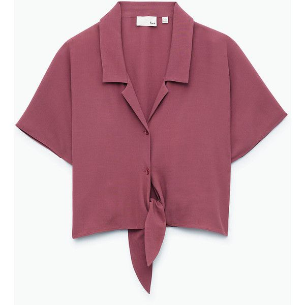 huang blouse Aritzia ($65) ❤ liked on Polyvore featuring tops, blouses, purple blouse and purple top