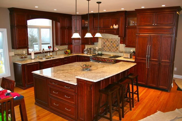 Here's a grand kitchen designed by StarMark Cabinetry dealer Inspiring