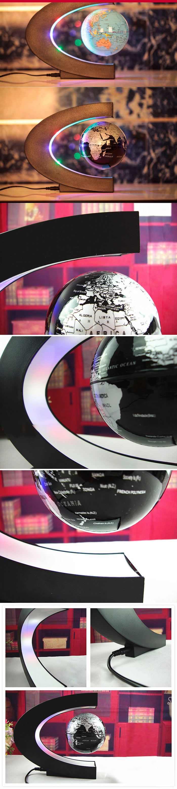 NEEEED!!!  Magnetic Levitation Floating Globe World Map with LED Light Decoration for Home/Office