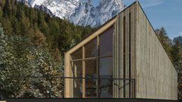EMMA, edificio Modulare Mobile Abitativo, struttura in acciaio e legno.