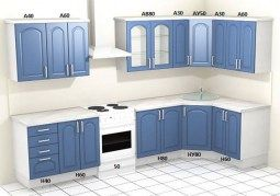 Угловой кухонный гарнитур Настя С3
