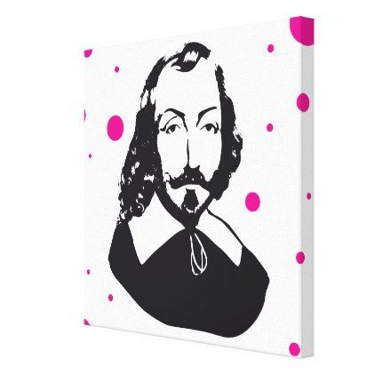 Quebec Samuel de Champlain 1608 French Pink Peas Canvas Print - pink gifts style ideas cyo unique