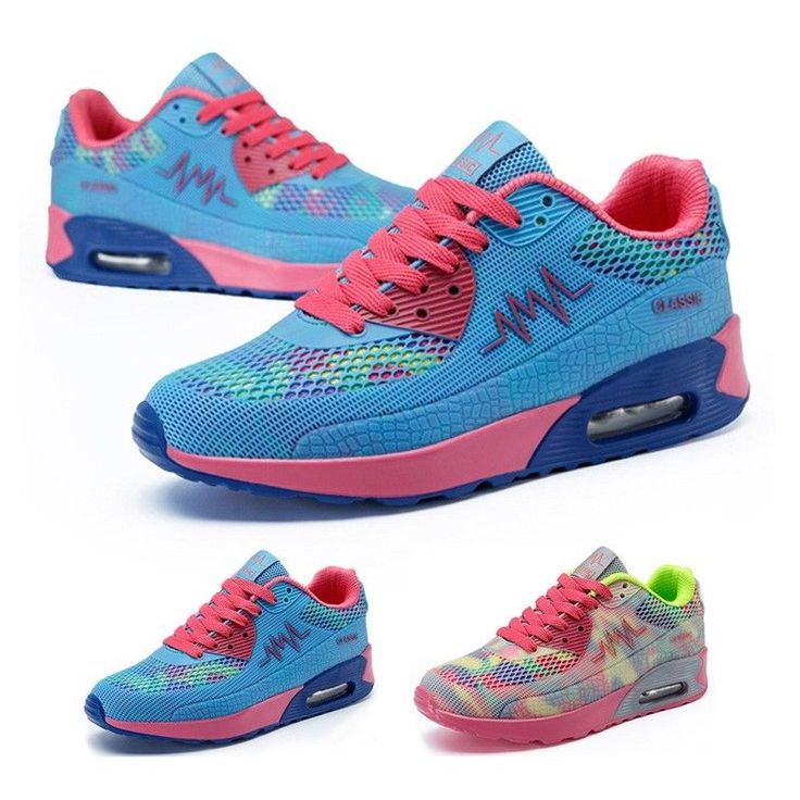 Women Sports Shoes Colorful Walking Trainers Lady Antiskid Sole Gym Sneakers