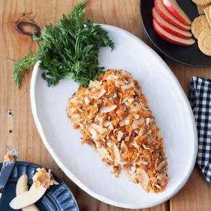 This sweet carrot-shaped cheese ball recipe is a clever take on an Easter dessert favorite: carrot cake.