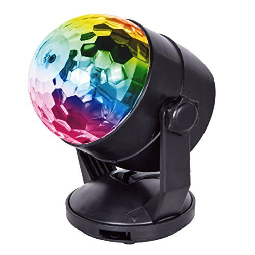 #Portable #Sound #Activated #Party #Lights for #Outdoor and #Indoor, #Battery Powered/USB #Plug in, #Dj #Lighting, #RBG #Disco #Ball, #Strobe #Lamp #Stage #Par #Light for #Car #Room #Dance #Parties #Birthday #DJ #Club #Pub 【2017 New Release Time Limited Special Offer】Sound-activated mode + battery/5V USB + self-rotating BRIGHT MULTI-COLORS CHANGING #DISCO LIGHTING: The #disco #ball #light is mixed with multicolor.(red, green, blue, red/green, red/blue, green/blue, and all