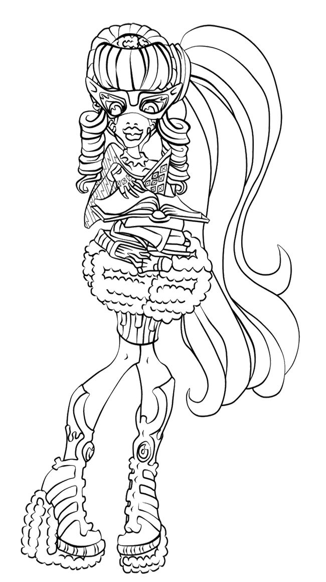 Ghoulia Yelps Ghouls Rule Coloring