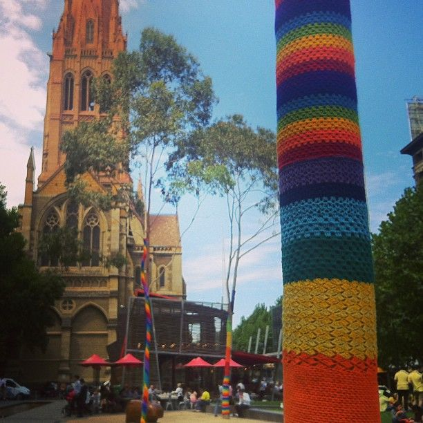 knitted trees #Melbourne #Australia