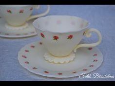 Fondant teáscsésze / How to make fondant teacup - YouTube
