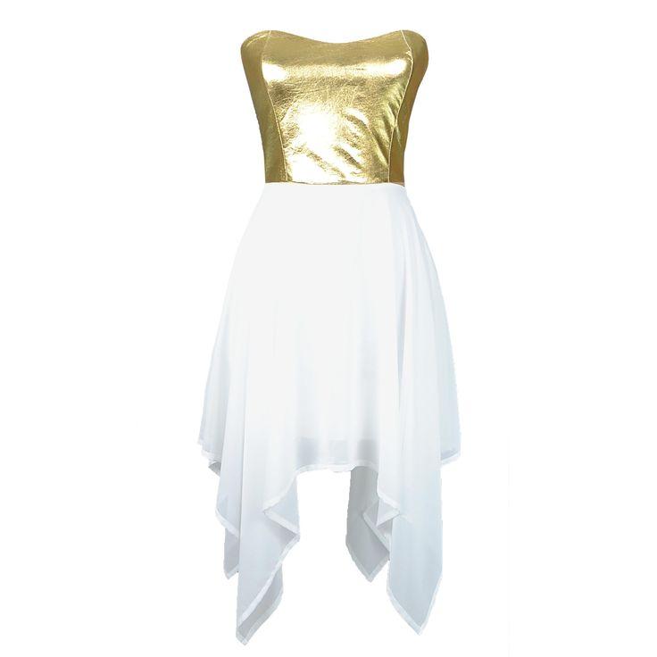 DORE STRAPLESS CHİFFON DRESS ELB�SE - DLRstyle Moda Ve Tasarım Evi