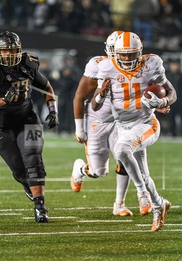 CalSports AP SPO  California U.S. CSMAP NCAA Football 2016: Tennessee vs Vanderbilt NOV 26