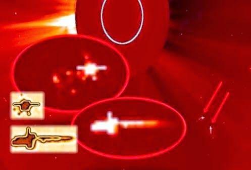 UFOs: Tráfego Intenso em torno do Sol, Câmera SOHO Captura UFOs Gigantes