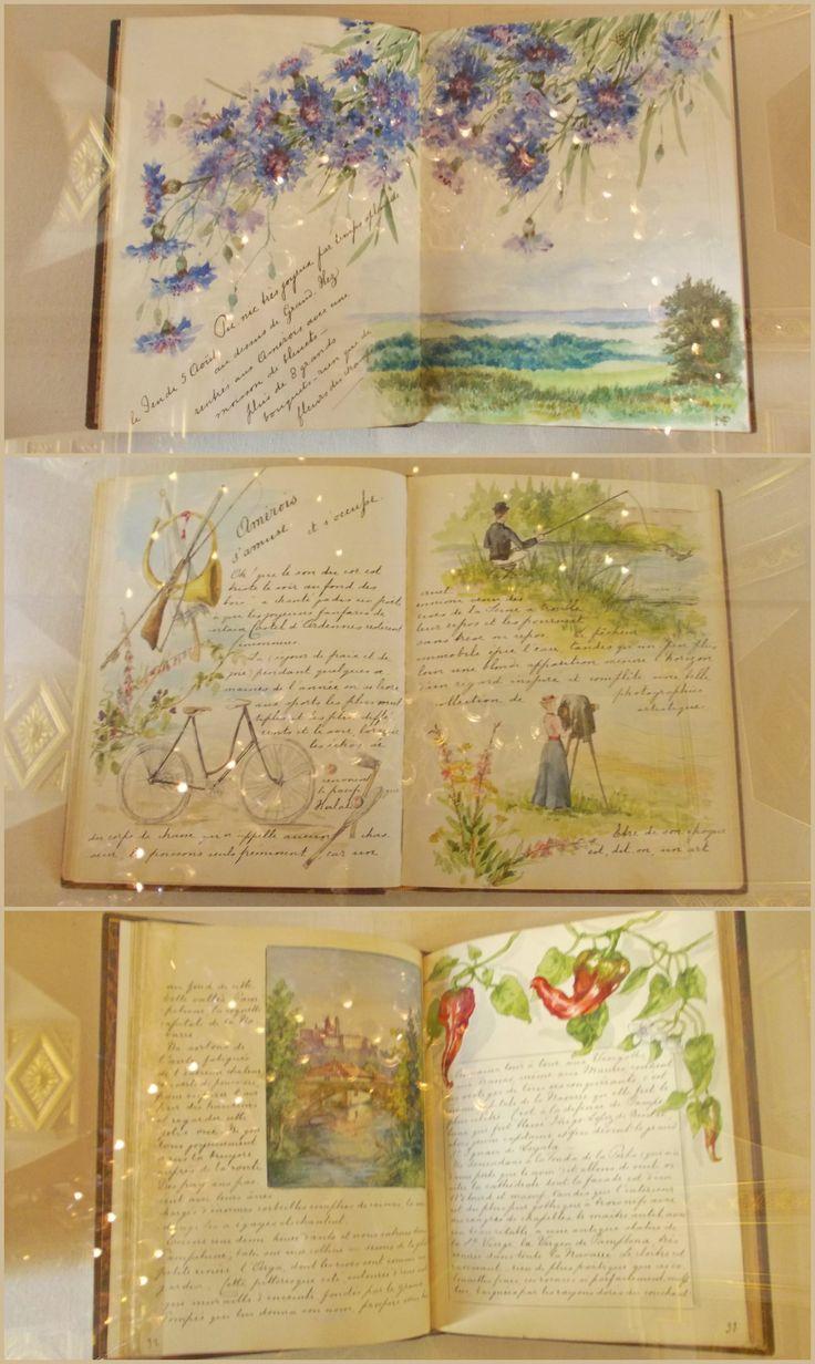 Illustrazioni ad acquerello fatte da Henriette duchesse de Vendôme et Alençon. Palazzo Reale- Bruxelles