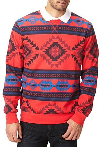 Southwestern Print Sweatshirt | 21 MEN - 2054834412 #F21Crush
