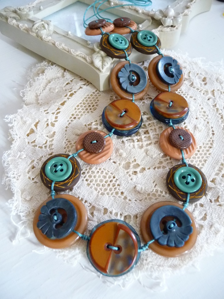 135 best Button jewellery images on Pinterest Button button
