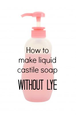 This easy recipe teaches you how to make liquid castile soap without lye.