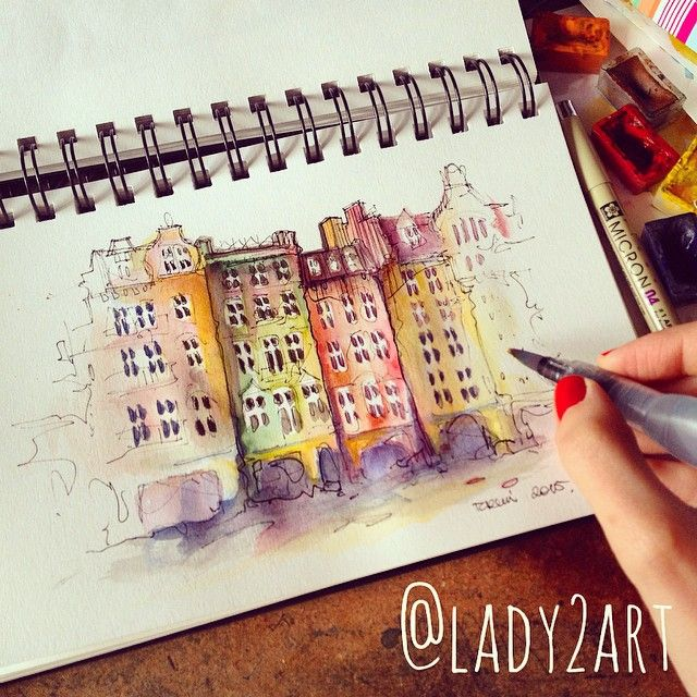 Torun old town architecture ✏️ by lady2art