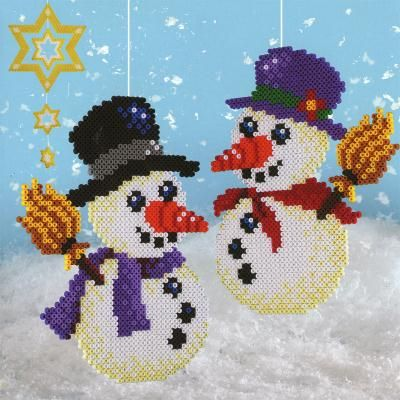 Christmas Snowmen hama beads( plan on making these)
