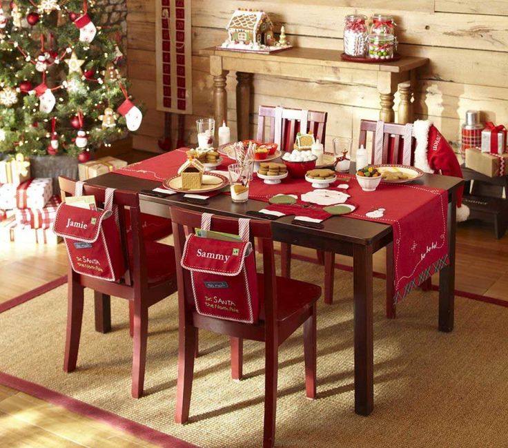 Interior Cool Furniture Rustic Christmas Table Decorations In Red