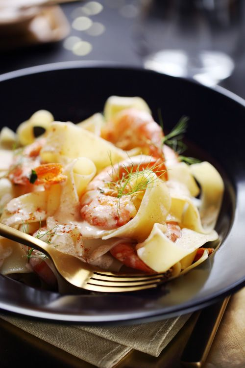 Pappardelles sauce gambas