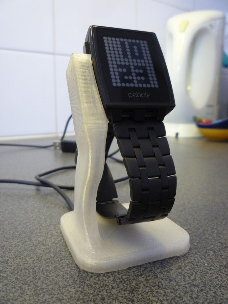 Pebble Steel watch charger/stand - 3D printed