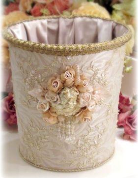 Gilded Opulence Waste Basket