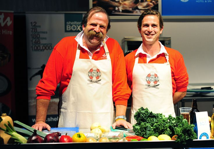 Dick and James Strawbridge at the 2012 Falmouth Oyster Festival http://www.falmouthoysterfestival.co.uk
