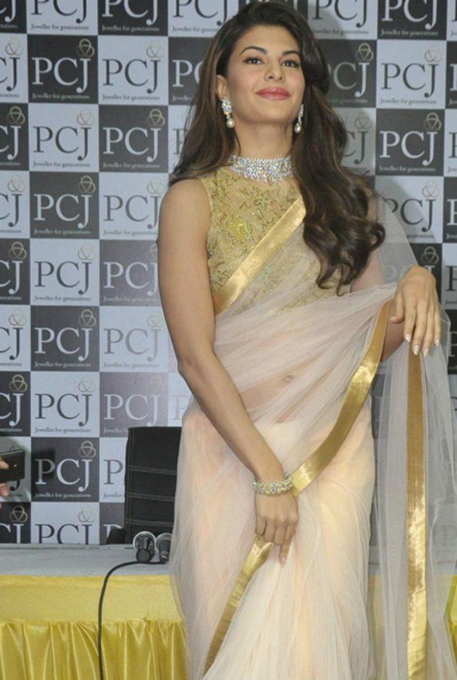 1551 Jacqueline Fernandez Designer Indian Bollywood Inspired Saree - Fashion Nation India  - 2