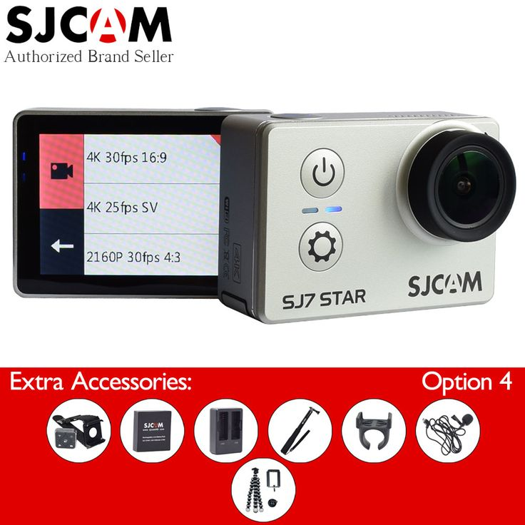 >> Click to Buy << SJCAM SJ7 Star Wifi Action Camera 4K 30fps Gyro 2.0 Inch Touch Screen Ambarella A12S75 Sport Camcorder Diving SJ CAM 7 Mini DV #Affiliate