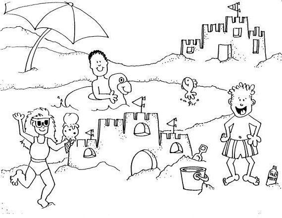 15 Beau De Coloriage Plage Photos Coloring Pages Building Sand Sand Castle