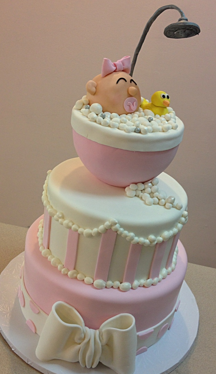12 best images about baby shower cakes on pinterest for Baby shower decoration ideas pinterest