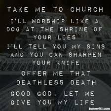 Risultati immagini per hozier take me to church