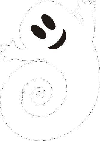 Fantasma de papel com Molde
