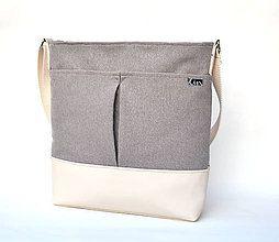 Veľké tašky - Bag CREAM - 6747232_
