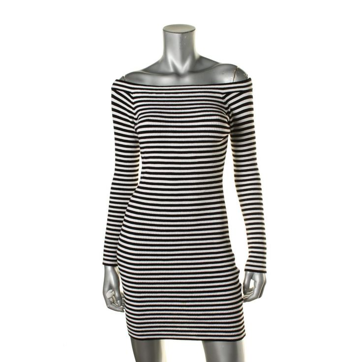 Guess Womens 3/4 Sleeves Knee Length Cocktail Dress