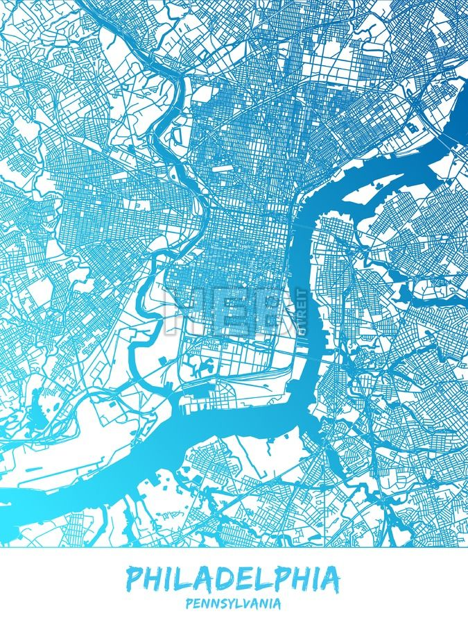 Philadelphia downtown and surroundings Map in blue shaded version with many details. This map of Philadelphia contains typical landmarks with room for... ... #vector #map #download #vector #infographic #background #landmarks #stockimage #design #hebstreit