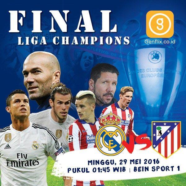 Final Liga Champions Madrid VS Atletico Di Genflix | Info Olahraga