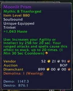 I just got this trinket and was super hyped...until I realized I can't even stack it 20 times before the buff expires. My 840 proc trinkets are better than this! Only procs on spell casts not DoT ticks. #worldofwarcraft #blizzard #Hearthstone #wow #Warcraft #BlizzardCS #gaming