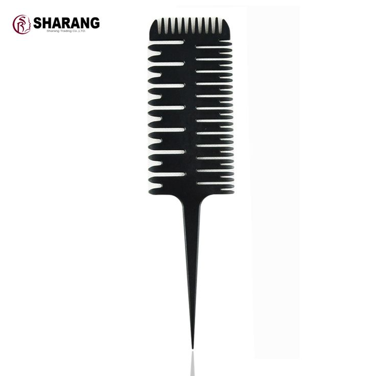 Professional salon Haircut barber Style Comb With Tail Fish bone Black plastic Comb50042