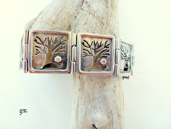 Tree Silver bracelet wooldand  Free shipping by GeorgiaCollection, €150.00