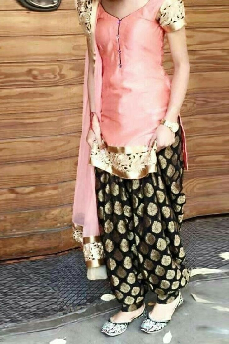 Pink Semi-Stitched Cotton Party Wear Salwar Suit