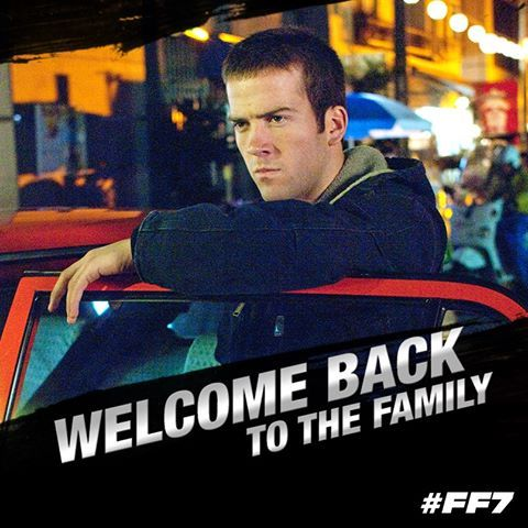 Lucas Black aka Sean Boswell known from 'The Fast and the Furious: Tokyo Drift' is back behind the wheel for 'Fast & Furious 7′ and beyond #welcomeback #fastfuriousfamily